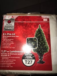 4 foot  Christmas tree with lights. 2 in the box. I have 2 boxes. $30 each box. Brampton, L6P 0K6