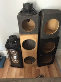 Various speaker boxes $30 and up Cambridge