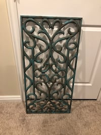 Awesome Turquoise Metal Wall Decor!