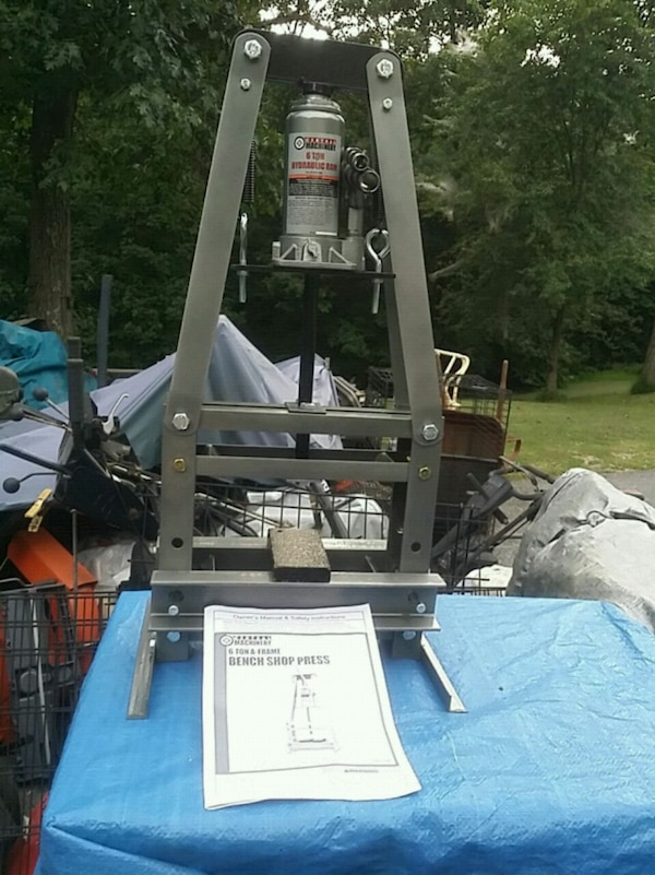 6 ton A Frame Bench Shop Press, new