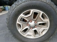 Jeep Rubicon rims with tires Kearny, 07032