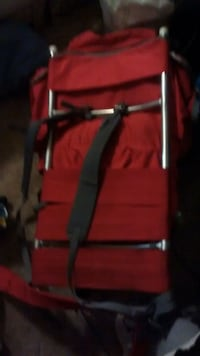 RED ALUMINUM BACK BACK. LIGHT TO CARRY. 3530 km
