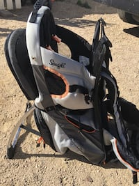 baby's black and white stroller