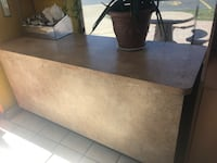 rectangular brown wooden coffee table Addison