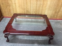Large coffee table with glass top