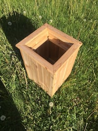 "Cedar planter $40, 18""highx13"" square St. Albert"