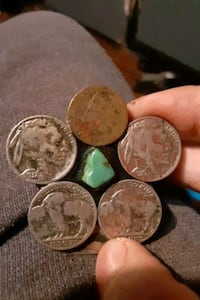 Jade and coins antique money clip