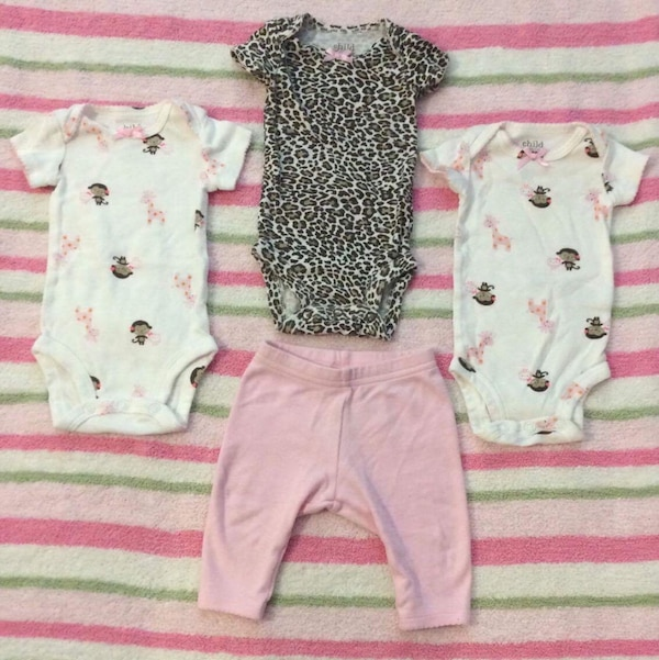 f5609abdb Newborn 3 Animal/Monkey onesies with pants. Brand: child of mine by Carter's