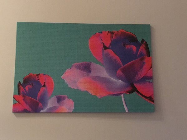 Flower canvas wall painting