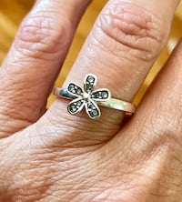 Sterling Silver Overlay Flower Ring Sz 7 Greenville, 29617