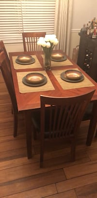 Brown wooden 6-piece dining set Clinton, 20735