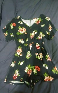 black and multicolored floral long-sleeved dress Prince George, V2N 1M5