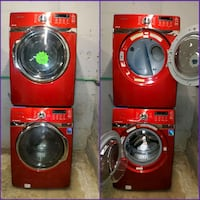 SAMSUNG front load Washer and dryer set with warranty  Baltimore, 21223