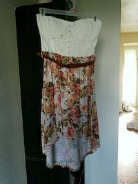 white and red floral spaghetti strap dress Norfolk, 23503