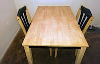 Wood Kitchen Table and 2 Black Wood Chairs New Port Richey, 34653