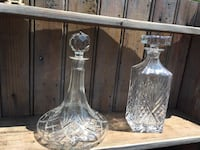 two clear glass vases and vase Guilford, 06437
