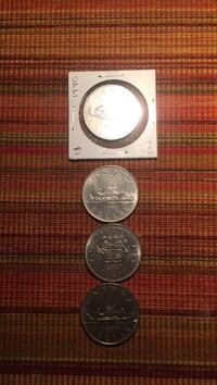 four round silver commemorative coins Calgary, T2B 3V5