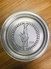 Pewter plate Revolutionary 1776 Plymouth Meeting, 19462