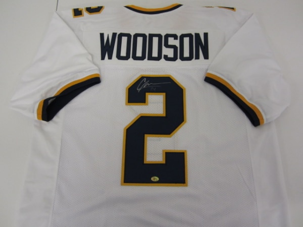 sports shoes 780f0 caeb5 Charles Woodson Michigan Wolverines Signed Football Jersey Certified