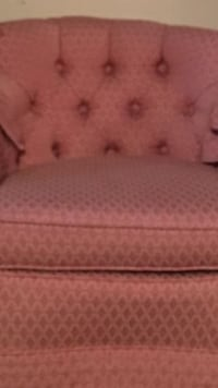 tufted pink suede sofa chair North Lauderdale, 33068