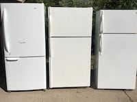 white top-mount refrigerators Redford
