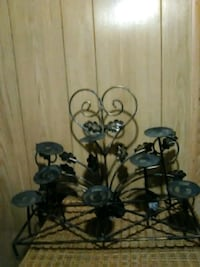 black metal flower candle holder Houma