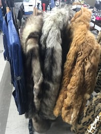 Black and gray fur coats 3 ladies fur coats one Leather  New York, 11357