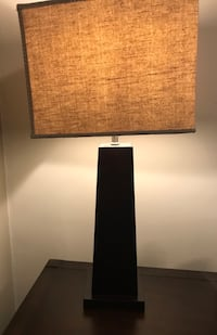 Pier 1 imports wooden lamp tan shade Smithtown, 11787