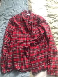 Red Urban Outfiters flannel shirt Toronto