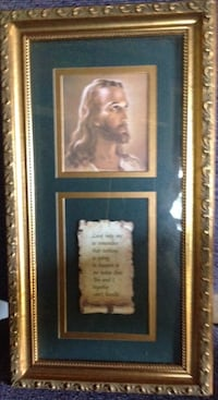 Golden frame Painting of Jesus and a script writing. Woodbridge, 22193