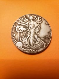 1934 silver old coin