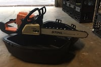 Stihl ms/ 250 refurbished case gas oil and 2 new chains in box Niles, 44446