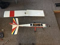 Airplane with stand and volt meter box and other stuff