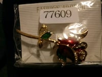 red and gold-colored rose brooch Los Angeles, 90001