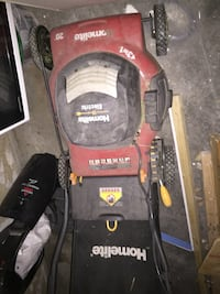 red and black Craftsman push mower