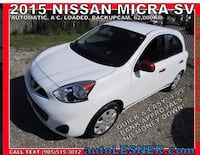 2015 NISSAN MICRA SV -ZERO DOWN, $180 for 60 months FINANCE TO OWN! Hamilton