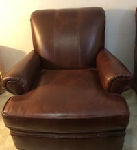 brown leather sofa chair with ottoman Bethesda, 20817