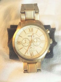 round gold Michael Kors chronograph watch with link bracelet Oklahoma City