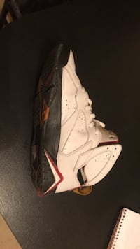 White and red air jordan basketball shoe Anderson, 46016