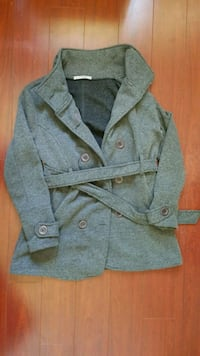 Grey Catworld Button Wool Jacket Vancouver, V5K 2S4
