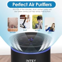 HEPA Filter Air Purifier for Home Smokers Allergies and Pets Hair 华盛顿, 20011