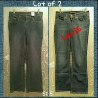 LOT OF 2 WOMENS JEANS SIZE 5  Ontario, 91762