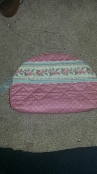 quilted pink and white floral bedder