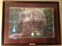 Magnolia Morning by Mort Kunstler LE Lithograph Signed on Glass! Manassas