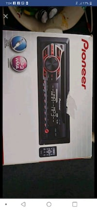 black and gray Pioneer 1-DIN head unit