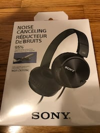 Sony foldable noise cancelling headphones - box has never been opened Attleboro