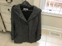 black and gray button-up jacket Vaughan
