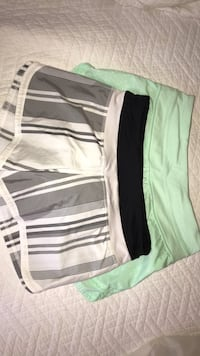 white and black striped short shorts Houston, 77076