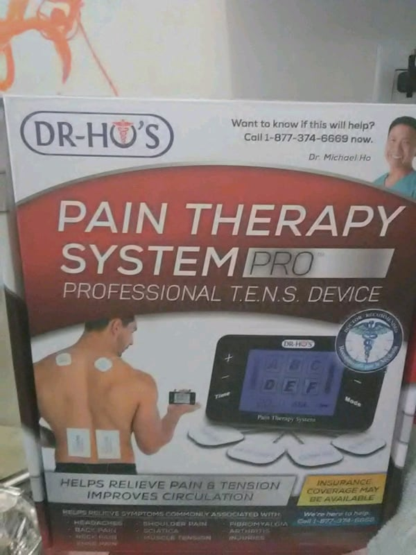 Dr Ho's pain therapy system pro professional T.E.N.S DEVICE 3031ca6f-a71e-4558-837e-d57577f577db