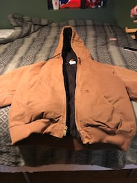 brown zip-up jacket WASHINGTON